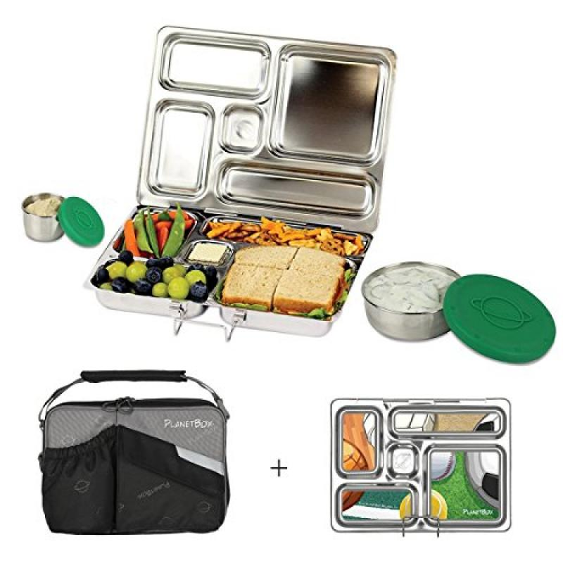 PlanetBox ROVER Eco-Friendly Stainless Steel Bento Lunch ...