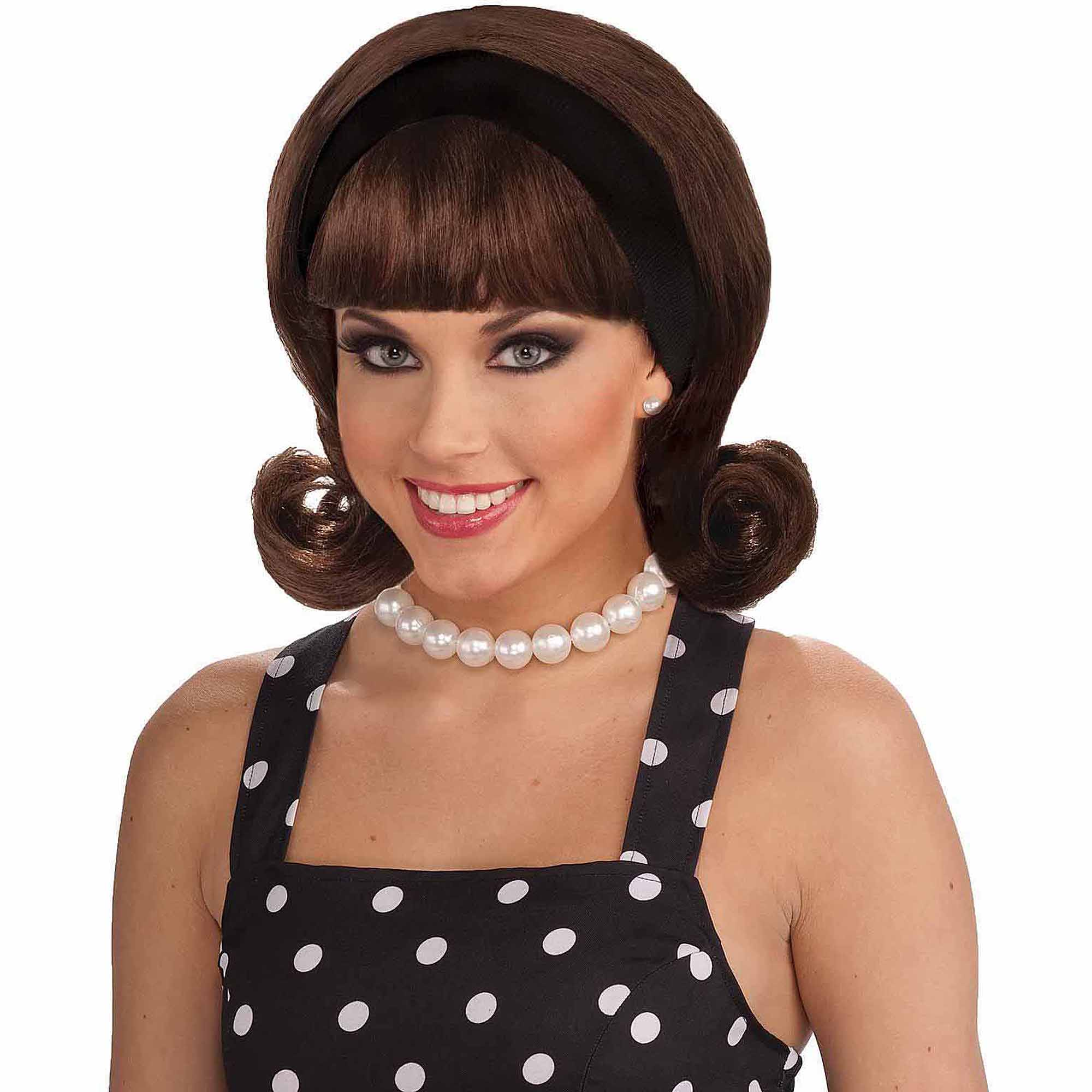 50s Flip Wig Adult Halloween Costume Accessory