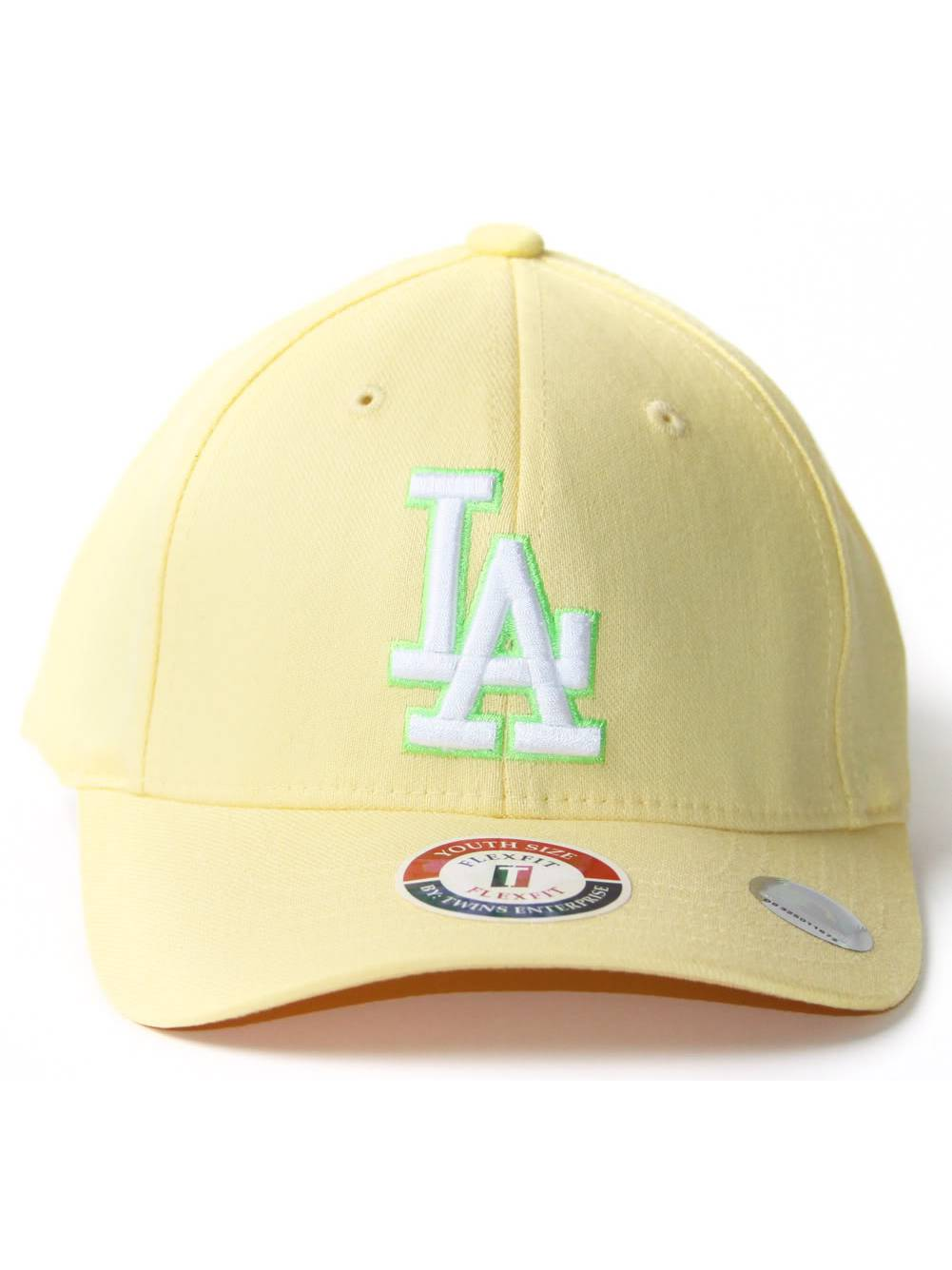 Light Yellow Youth Size Flex Fit Hat - Los Angeles Dodgers 52109781519