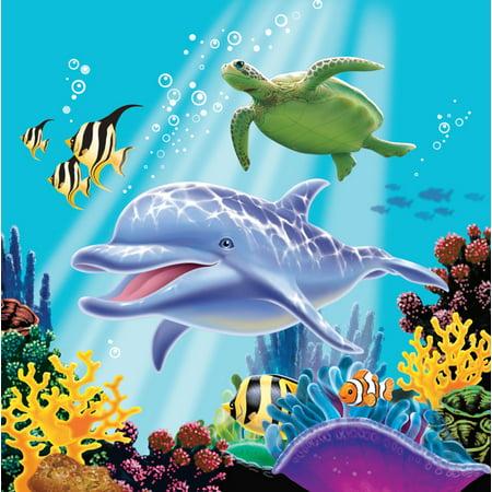 Dolphin Under the Sea Edible Cake Topper Image Cupcakes ...