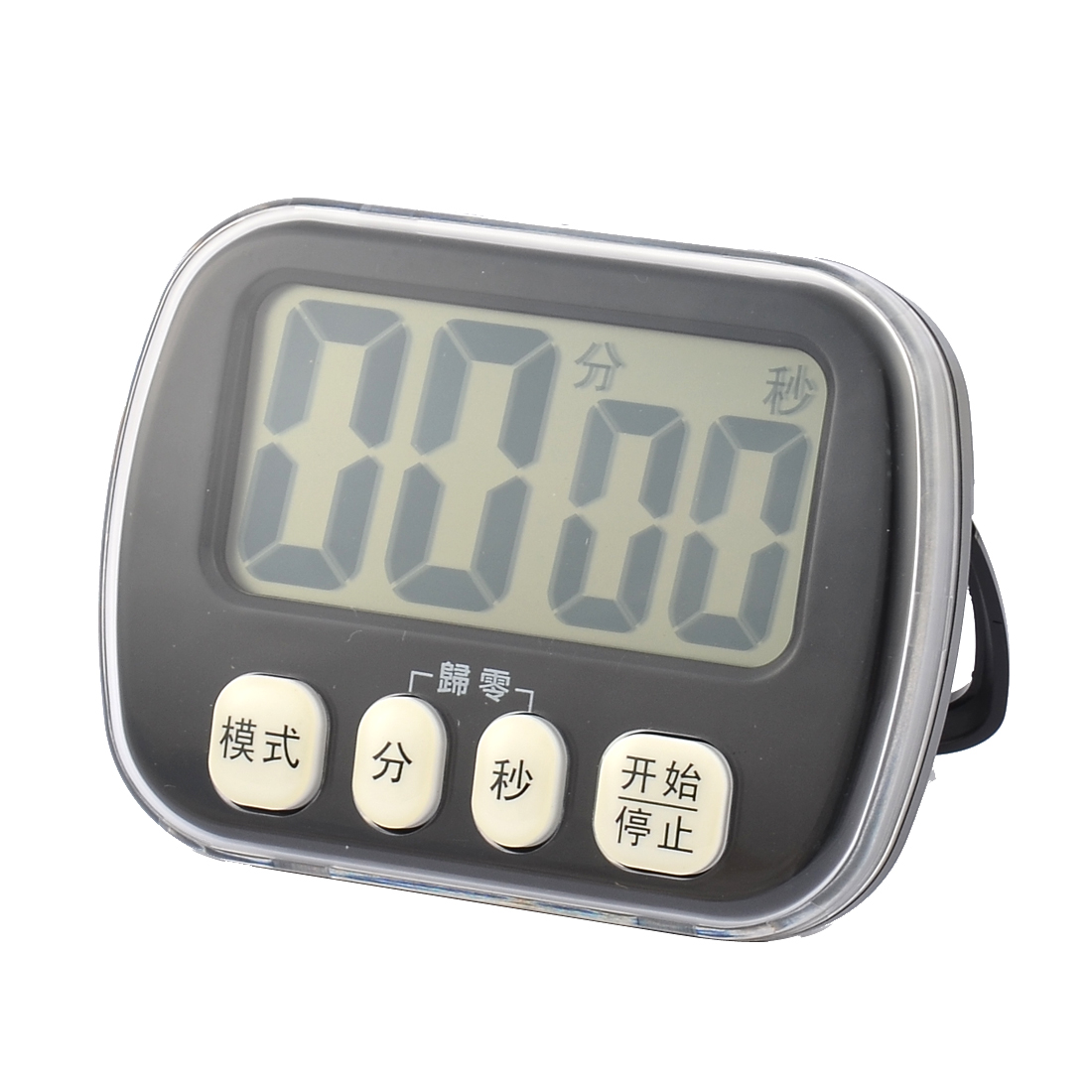 ABS Battery Powered LCD Digital Second Minute Count Down Up Timer Clock Black