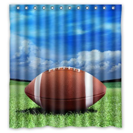 MOHome American Football Shower Curtain Waterproof Polyester Fabric Size 66x72 Inches