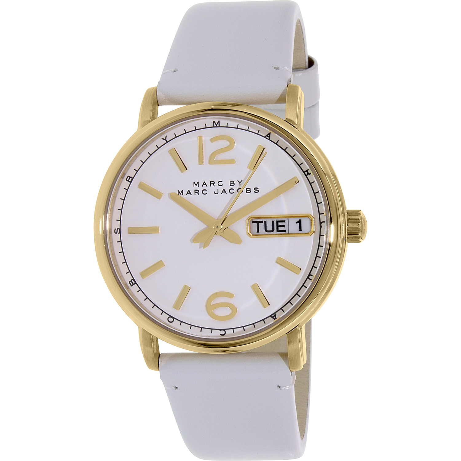 Marc Women's Fergus MBM8653 White Leather Quartz Fashion Watch