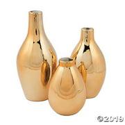 Gold Metallic Vase Set