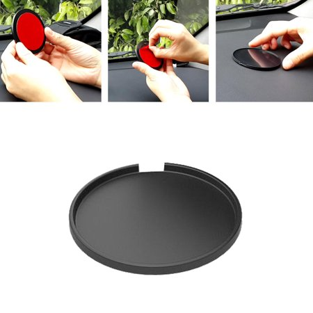 Automatic Console Shift Plate - Universal Adapter Plate Circular Adhesive Windshield Mount Dash/Console Disc Suction Cup Mount Disk Pad, TSV solution kit for Car Dashboards/Garmin TomTom GPS/Smartphone Dashboard Disc.84 mm