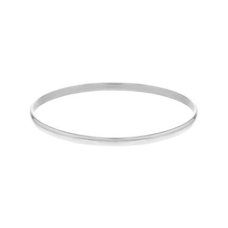 Silver Plated Classic Thin Plain Baby Bangle Bracelet Infants 1.8