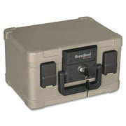 SureSeal By FireKing Fire and Waterproof Chest, 0.15 cu ft, 12.2w x 9.8d x 7.3h, Taupe