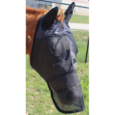 Equine Horse Fly Mask Summer Spring Airflow Mesh UV Mosquitoes 73291-98N