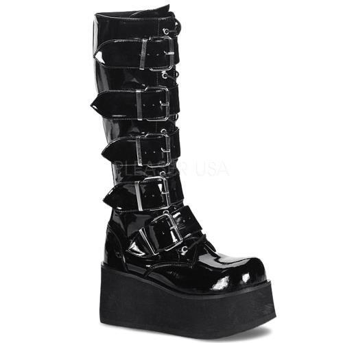 TRA518 B Demonia Vegan Boots Unisex BLACK Size: 5 by