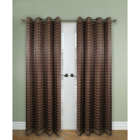 Versailles' Bamboo Wood Curtain Panel With Grommets (48in x 84in)