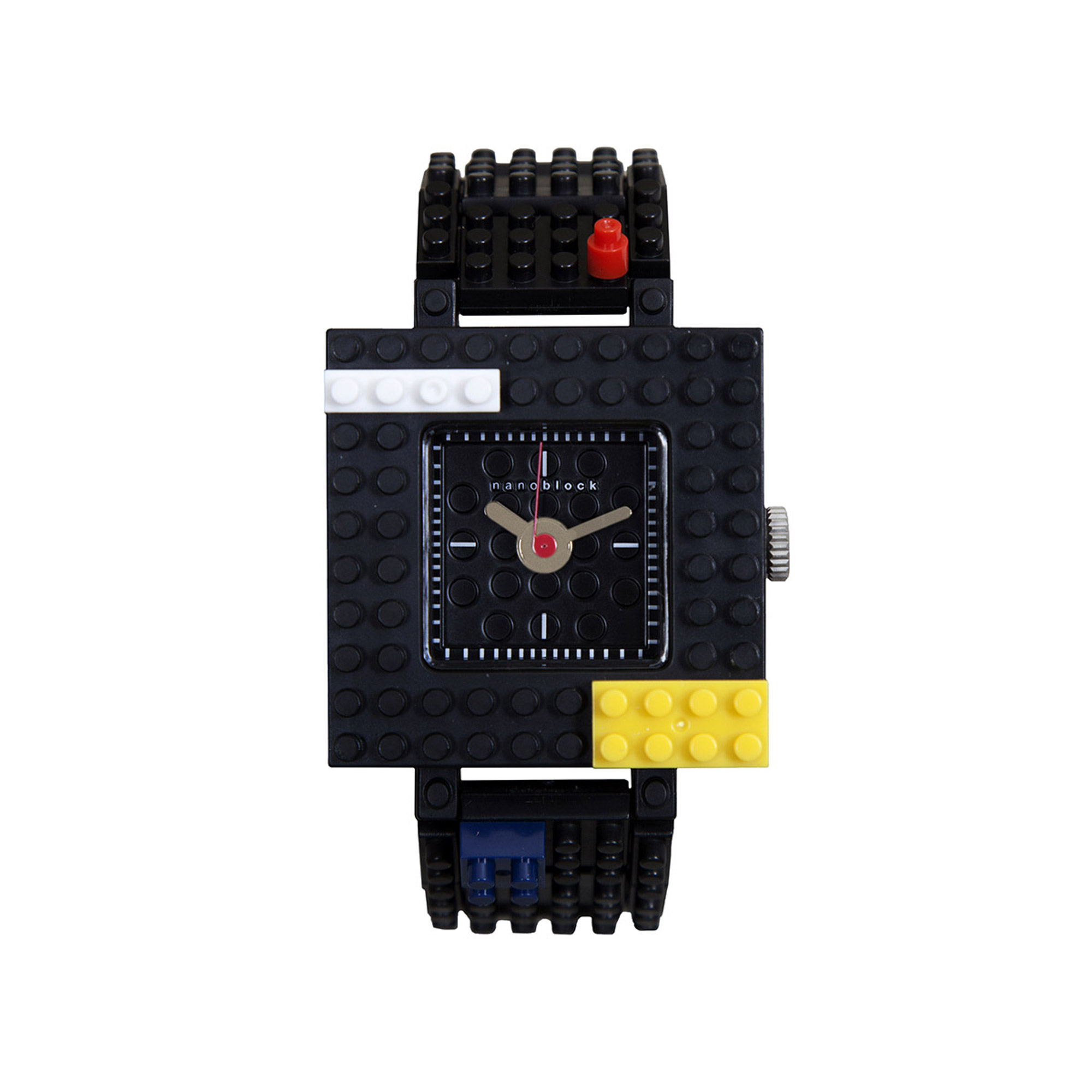 Nanoblocktime Nano Squared Watch, Black by Beta Enteprises Inc.