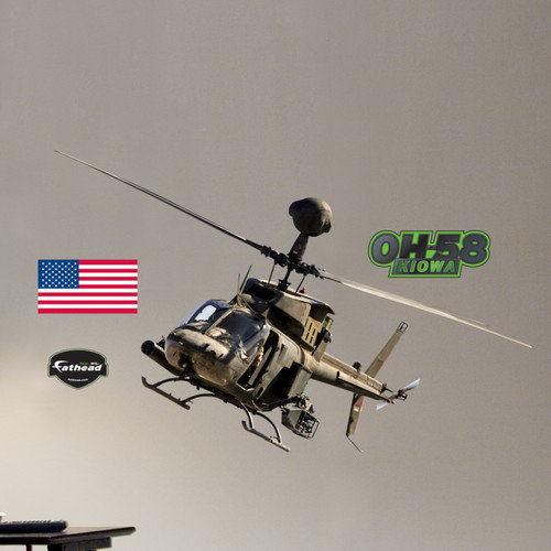 Fathead Military OH-58 Kiowa Warrior Wall Decal