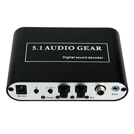Eazy2hD 5.1 Audio Gear Digital Sound Decoder Digital to Analog Audio Converter Transfer the Dts/ac-3 Signal and Stereo(r/l) Into 5.1 Output