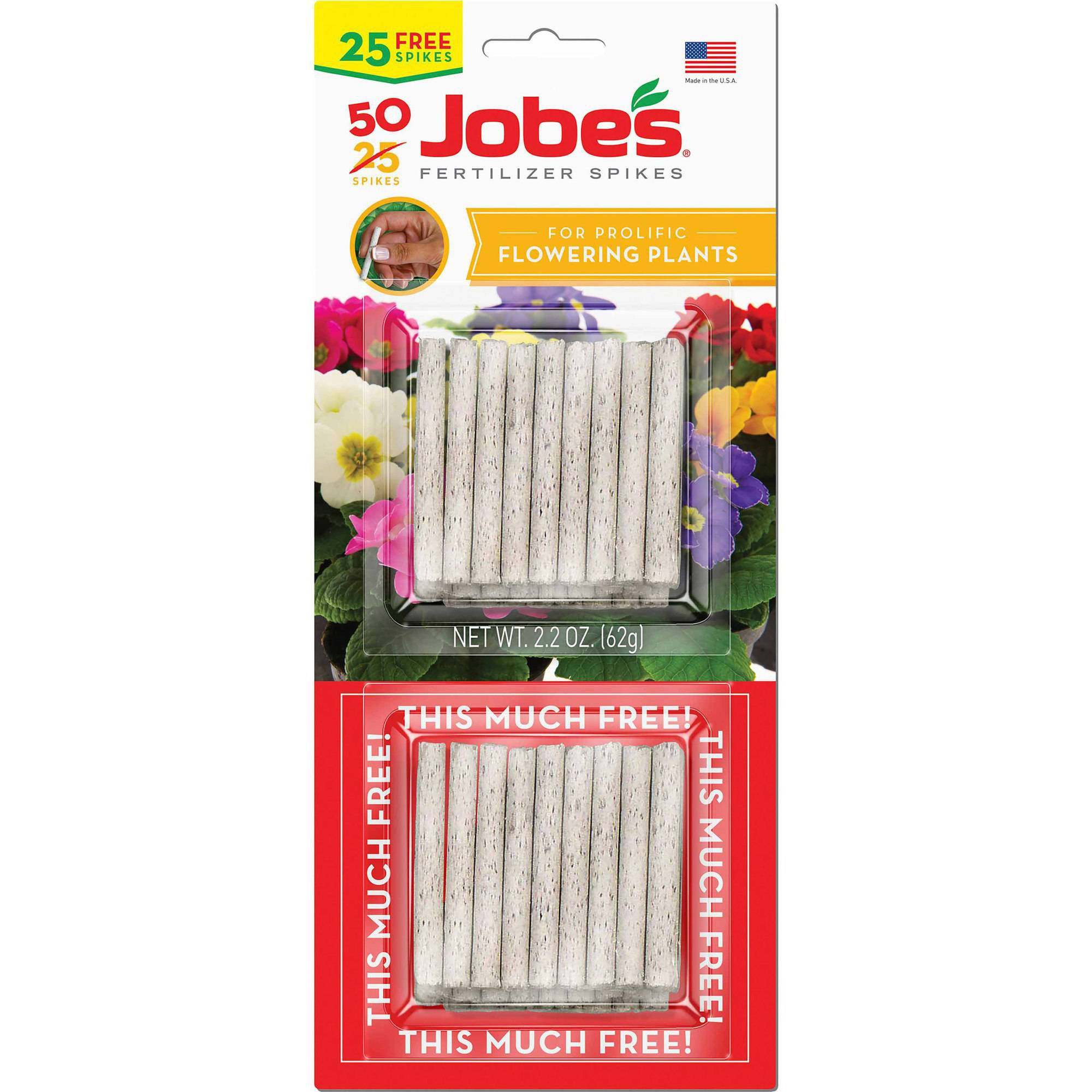 Image of Jobe's Flowering Plant Fertilizer Spikes Plant Food, 25 units