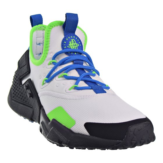 260e72f91a9e NIKE AIR HUARACHE DRIFT MEN S RUNNING SHOES AH7334-102 WHITE BLACK-BLUE  NEBULA Men s Shoes