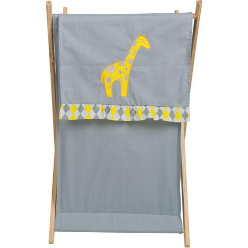 Pam Grace Creations Laundry Hamper, Argyle Giraffe