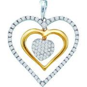 Gold and Diamonds P39897-W 0.51CT-DIA HEART PENDANT- Size 7