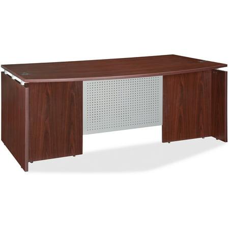 Lorell, LLR68680, Ascent Bowfront Desk Shell, 1 Each Veneer Bow Front Desk
