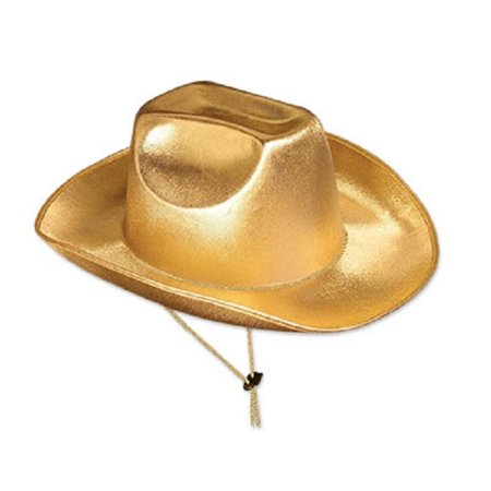 Pack of 6 Metallic Gold Cowboy Hat Western Party Accessories 15