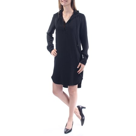 Ralph Lauren Ralph Lauren Womens Black Tie Pocketed Long Sleeve V