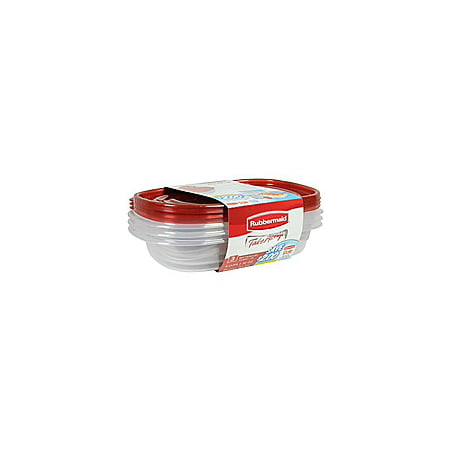 Rubbermaid TakeAlongs Redesigned Rectangle Food Storage Container (Set of 3), 4 Cups 6 Cup Rectangle Storage