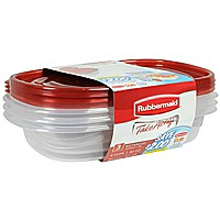 Rubbermaid TakeAlongs Redesigned Rectangle Food Storage Container (Set of 3) 4 Cups  sc 1 st  Walmart & Food Storage - Walmart.com