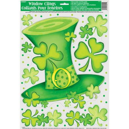 Saint Patrick's Day Striped Window -