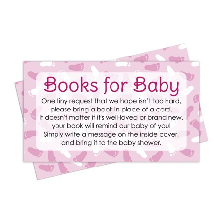 Books for Baby Shower Request Cards - Pink Girl Theme (Set of 20) for $<!---->