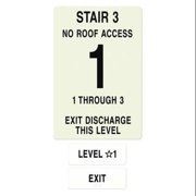 INTERSIGN NFPA-PVC1812-X(31N3) NFPASgn,StairId3,FlrLvl1,FlrsSrvd1 to 3 G0267569
