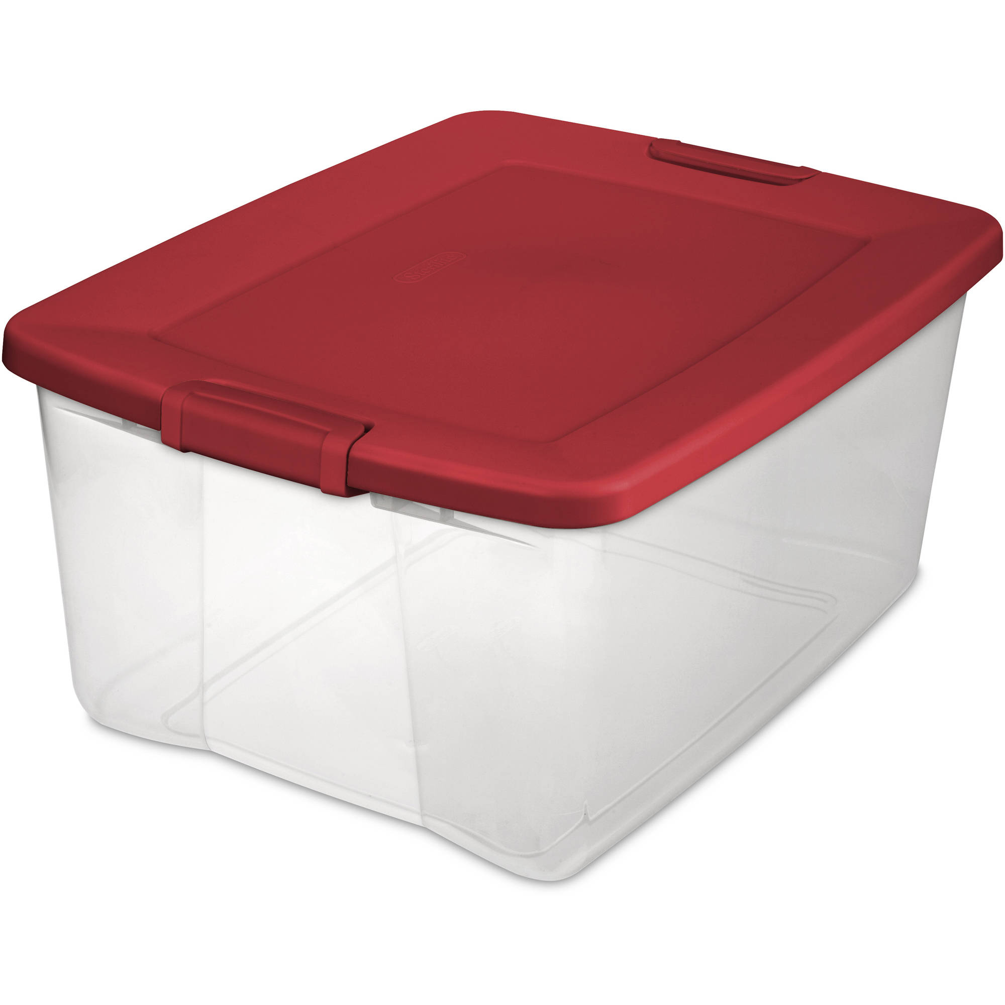 Sterilite 65-Quart Latch Box, Infra Red (Available in Case of 6 or Single Unit)