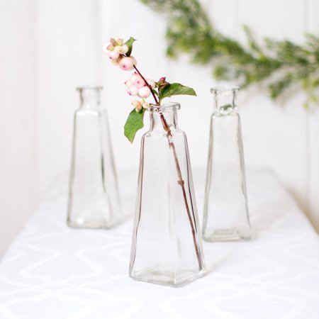 Party Ornaments Wedding Decor Glass Bud Vase Pyramid Jar Food Safe