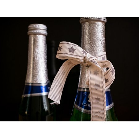 Peel-n-Stick Poster of Piccolo Bottle Celebrate Champagne New Year's Eve Poster 24x16 Adhesive Sticker Poster Print