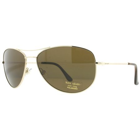 6be61af82279 Kate Spade New York - Kate Spade KS Ally/P/S 3YG Gold Havana Polarized  Women's Aviator Sunglasses - Walmart.com