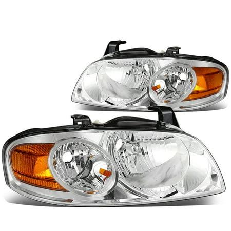 For 2004 to 2006 Nissan Sentra Headlight Chrome Housing Amber Corner Headlamp 05 Left+Right
