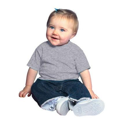 (Price/each)Rabbit Skins 3401 Infant T-Shirt-Heather-18M