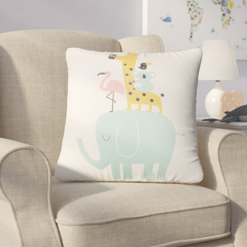 Zoomie Kids Halloway Elephant Throw Pillow