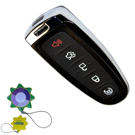 HQRP 5 Buttons Keyless Remote Case Shell Smart Prox Key for Ford Expedition, Flex 2015-2016; Focus, Taurus 2013-2016 plus HQRP UV (Ford Meter Box)