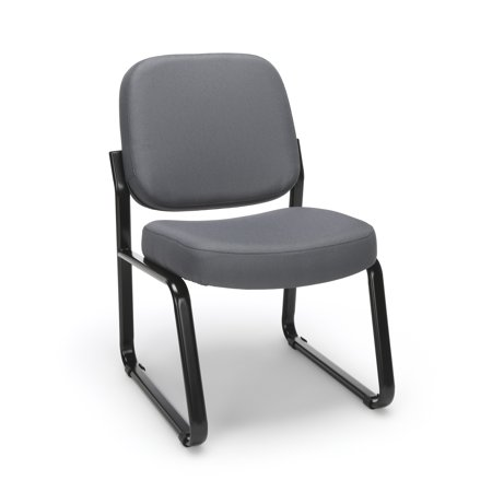 OFM Model 405 Fabric Armless Guest andReception Waiting Room Chair, Gray
