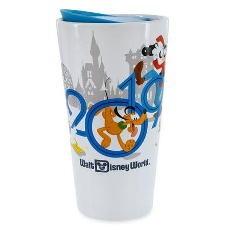 Disney Parks 2019 WDW Mickey and Friends Ceramic Travel Tumbler New - Disney Tumbler