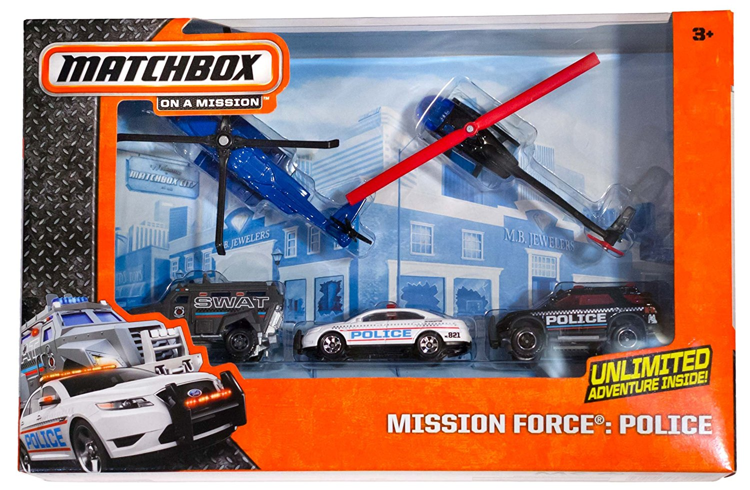 Police Mission Force Die-Cast Vehicle Pack (Sikorsky S-92/Robinson ...