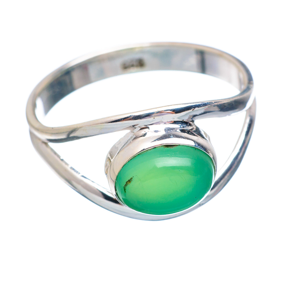Ana Silver Co Chrysoprase Ring Size 7.25 (925 Sterling Silver) Handmade Jewelry RING854999 by Ana Silver Co.