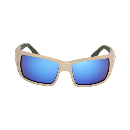 Costa Permit Nylon Frame Blue Mirror Glass Lens Men's Sunglasses (Costa Glass Lens)