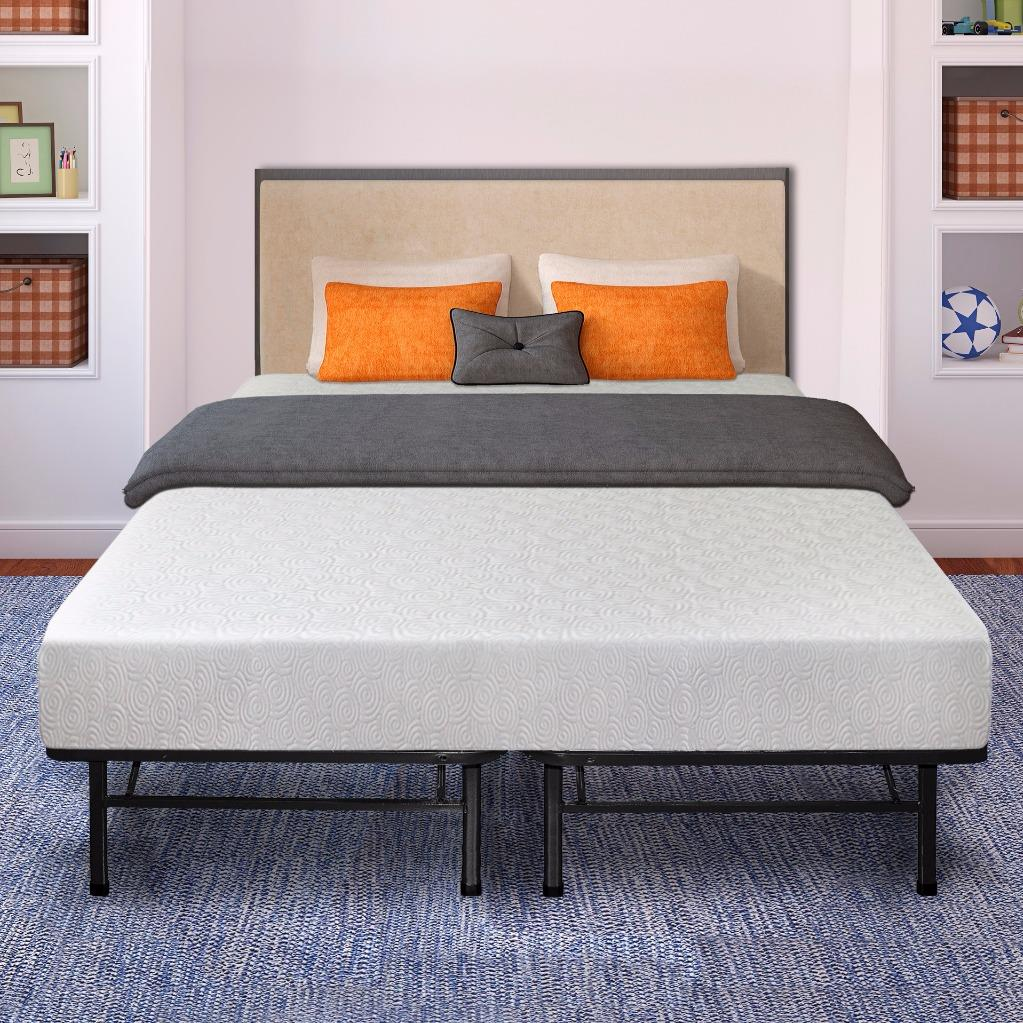 Best Price Mattress 7 Inch Gel Memory Foam Mattress and Bed Frame Set Multiple Sizes by Best Price Mattress