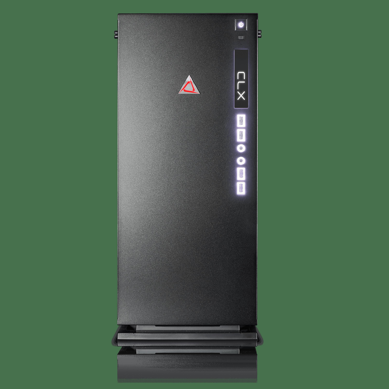 CLX SET High Performance Gaming PC(Black/Red)-Liquid Cooled Intel i7 7800X 3.5GHz 16GB DDR4 2TB HDD 240GB SSD NVIDIA GeForce GTX 1060 6GB MS Win 10