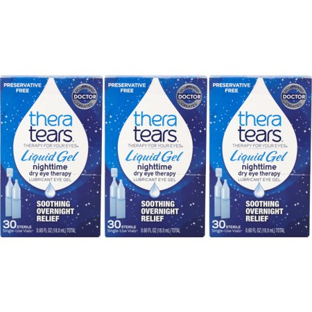3 Pack - TheraTears Liquid Gel Single-Use Containers 30 Each