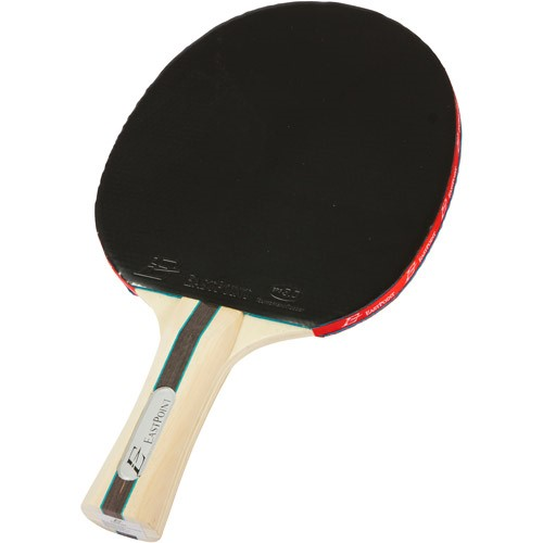 EastPoint 3.0 Competition Ping Pong Table Tennis Paddle, Black/Red