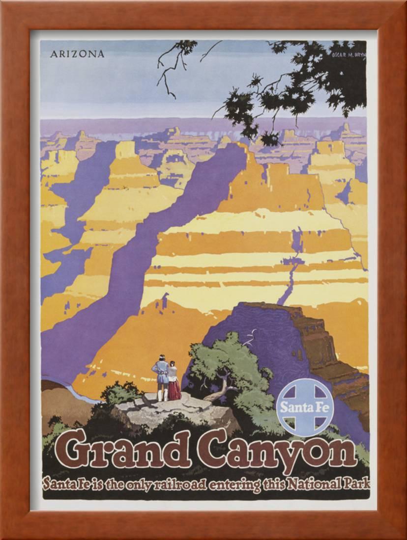 Grand Canyon Poster by Oscar Bryn Framed Print Wall Art - Walmart.com