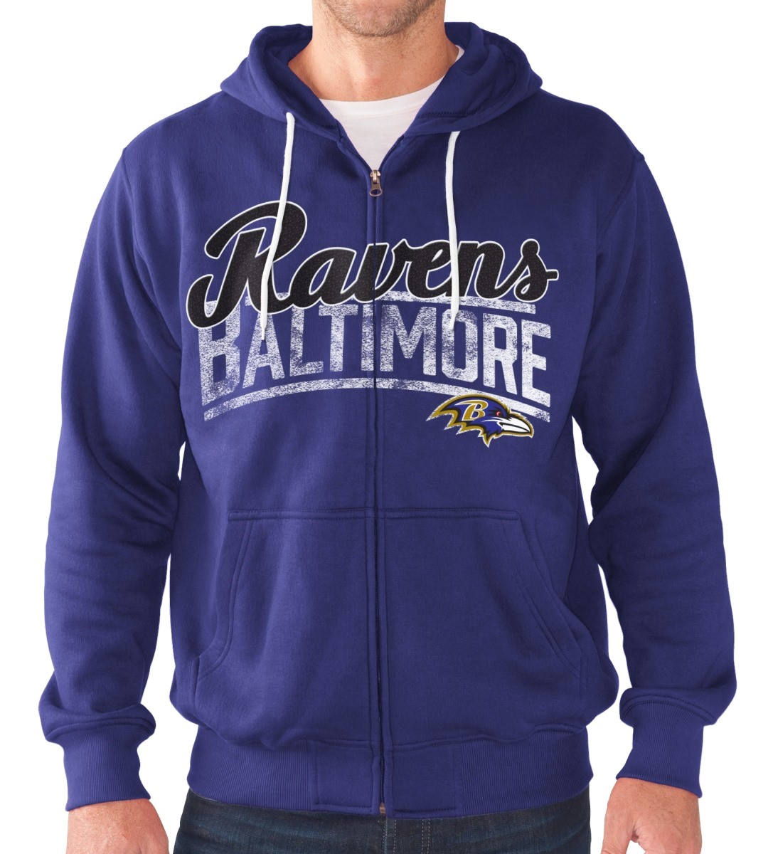 "Baltimore Ravens NFL G-III ""Swingman"" Full Zip Hooded French Terry Sweatshirt"