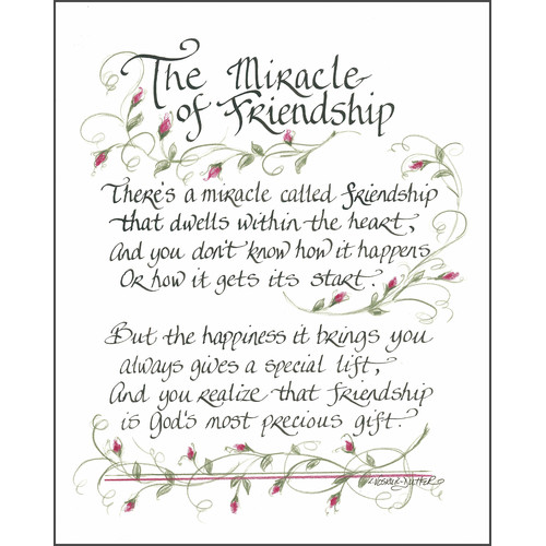 LPG Greetings Life Lines The Miracle of Friendship II by Lori Voskuil-Dutter Textual Art Plaque