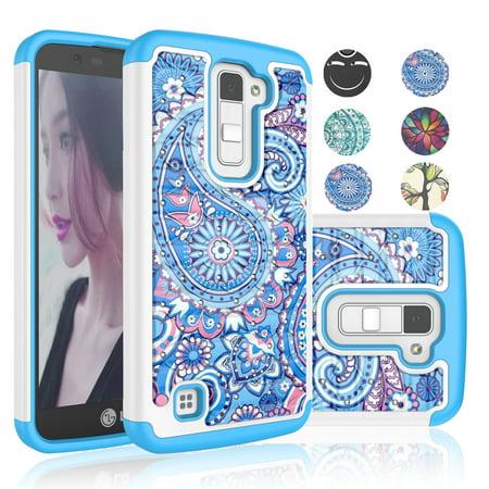 - LG K10 Case, LG Premier LTE Case For Girls, Njjex [Paisley Blue] Retro Pattern Bling Crystal Studded Rhinestone Rubber Plastic Sturdy Cases For LG K10/ LG Premier LTE L62VL L61AL
